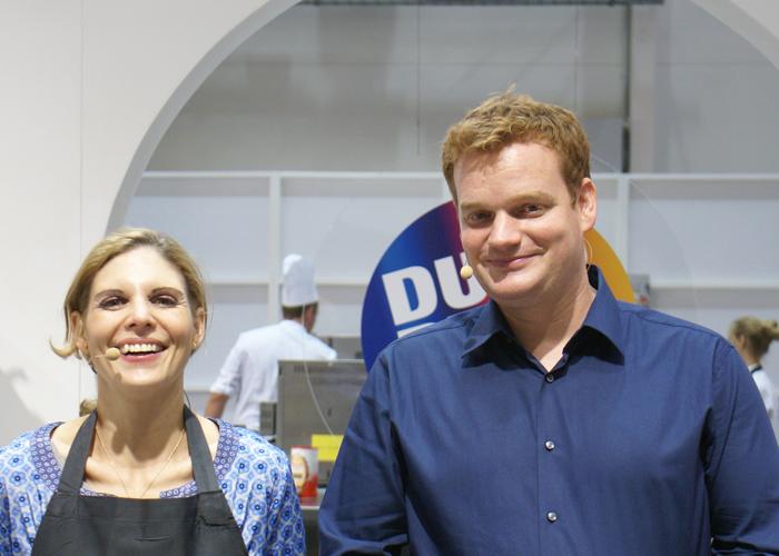 Moderatoren Duo Muenchen Hamburg Stefanie Dreyer Henning Harfst im Koch Studio