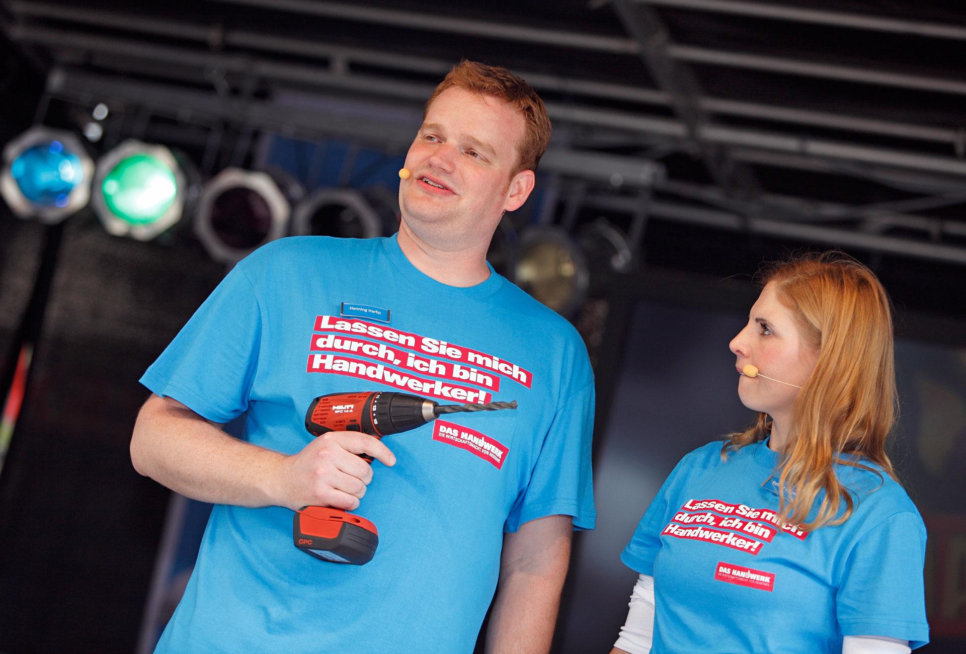 Moderator Henning Harfst Stefanie Dreyer Tag des Handwerks