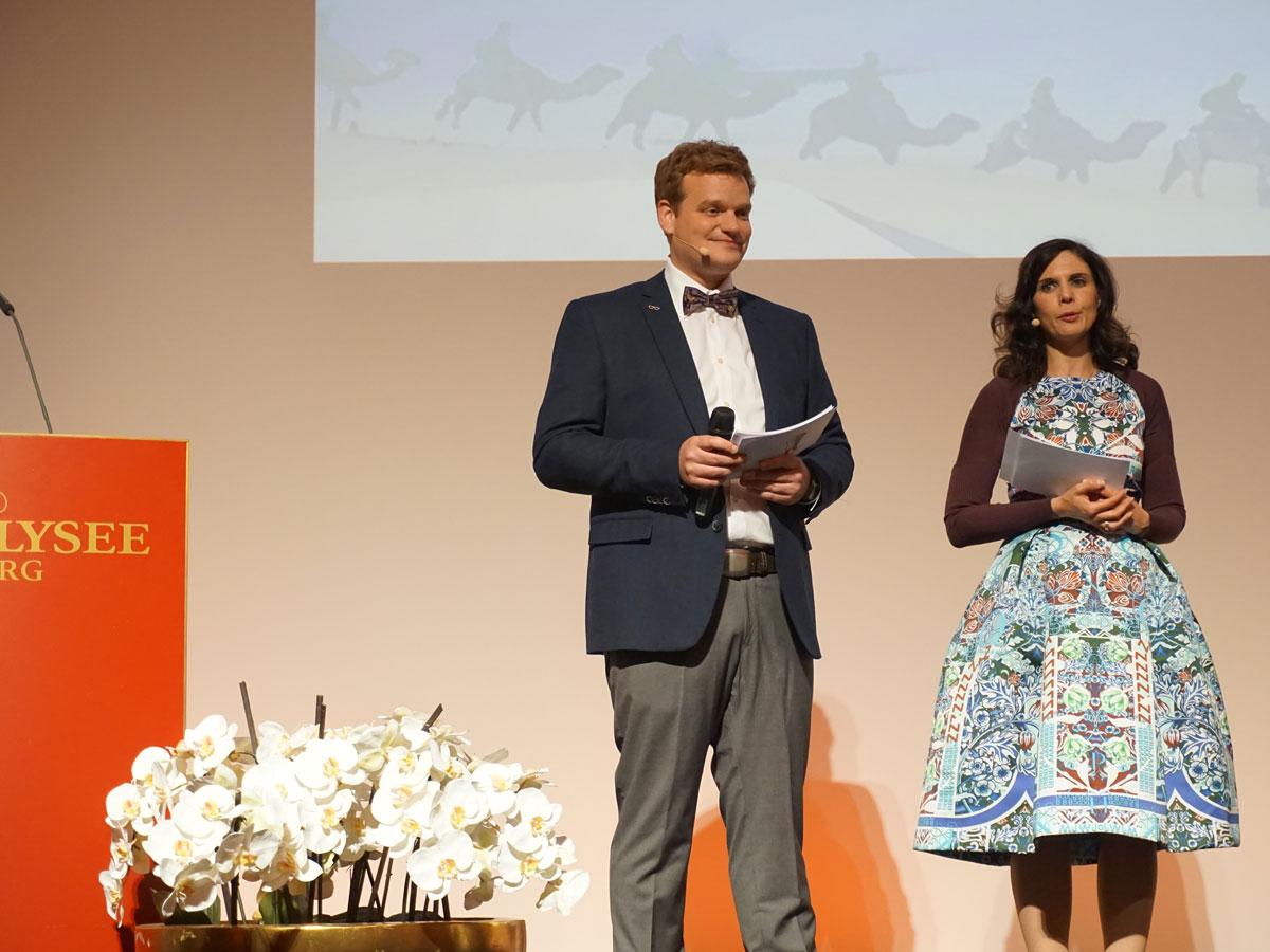 Moderatoren Duo Dreyer - Harfst moderieren Award Verleihung