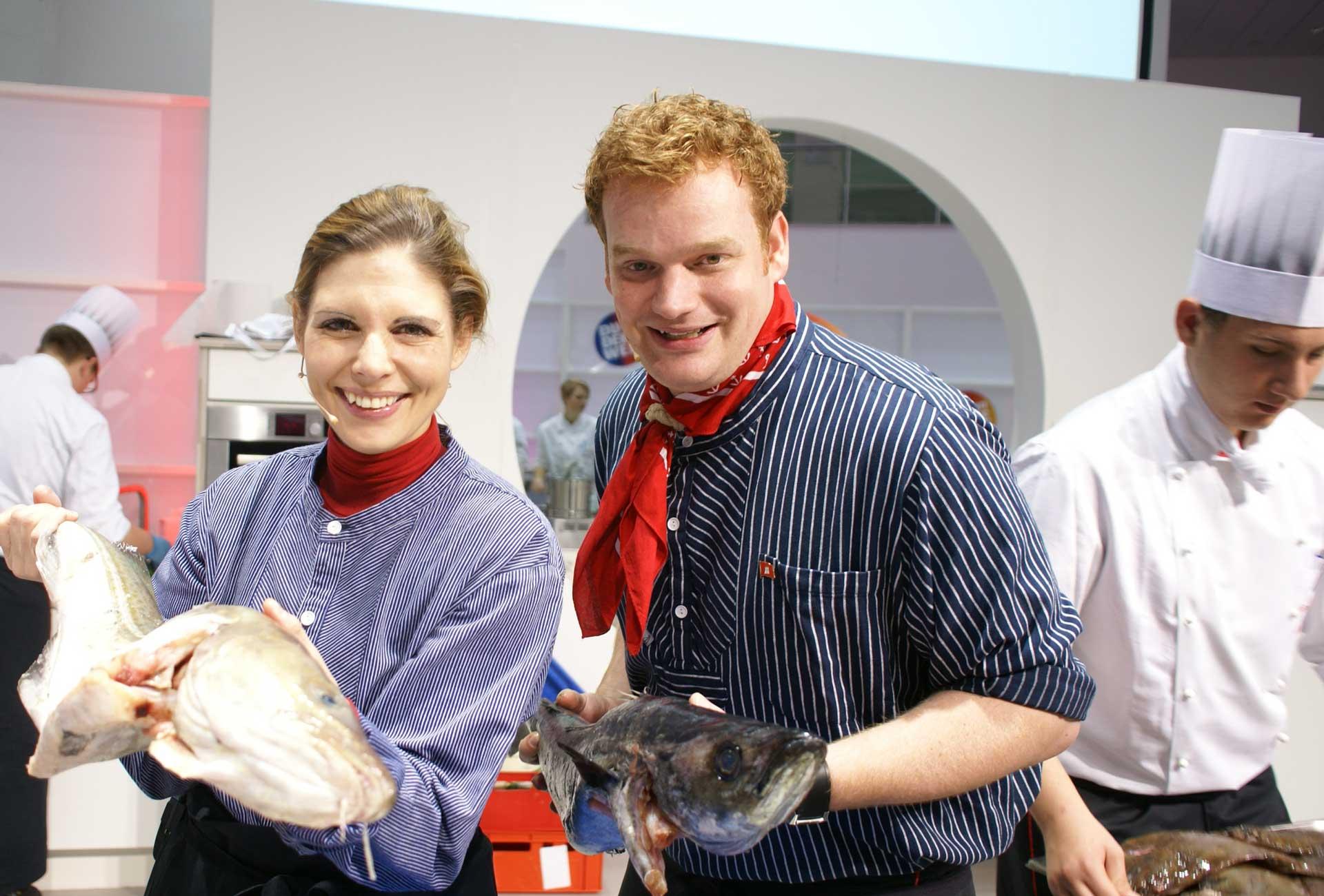 Moderatoren Duo Henning Harfst Steanie Dreyer moderieren Koch Show