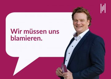 Kommunikationscoach und Moderator aus München Henning Harfst ist der Meinung, wir müssen uns blamieren